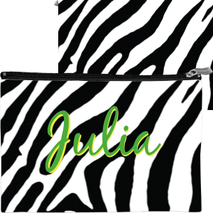 Zebra-BW Travel Accessory Bag