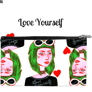 Love Yourself Medium Cosmetic Bag