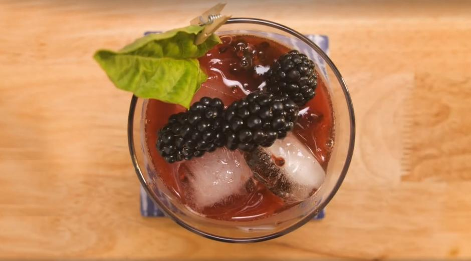 Blackberry Basil Smash Cocktail Recipe