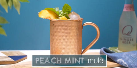 The Easiest Peach Mint Mule Recipe You'll Ever Find