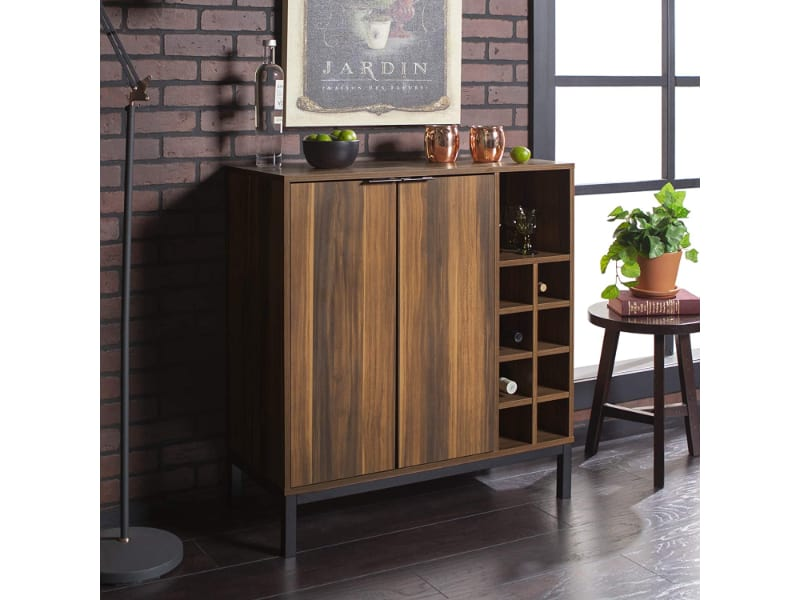 Walker Edison Mid-Century Modern Serving Storage Cabinet