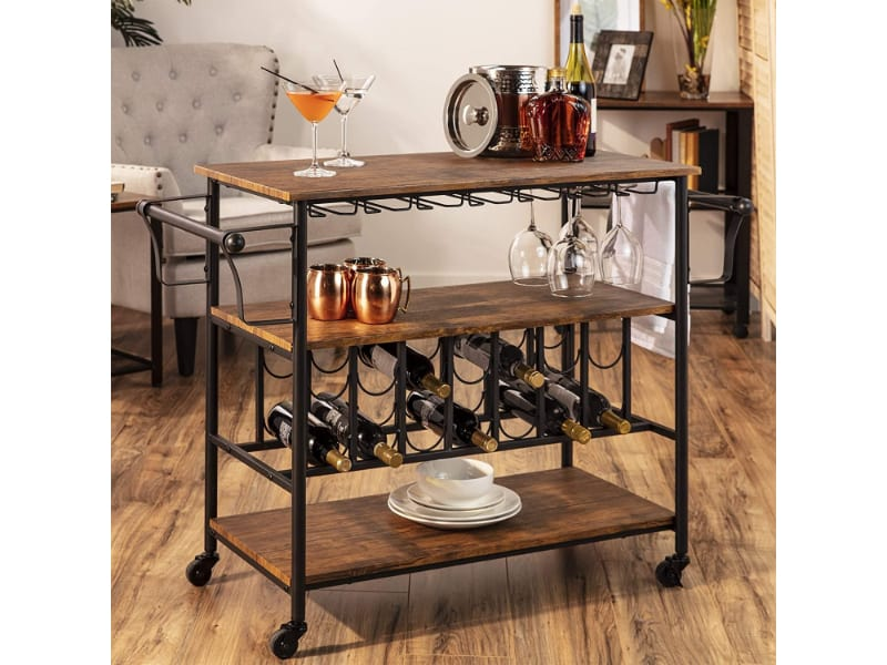 Best Choice Products Bar & Wine Service Cart