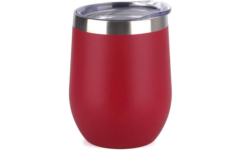 SunWill Vacuum Insulated Wine Tumbler with Lid