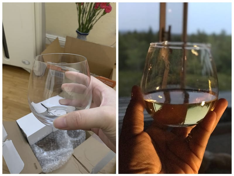 JoyJolt Stemless Reusable Plastic Wine Glass Customer Images