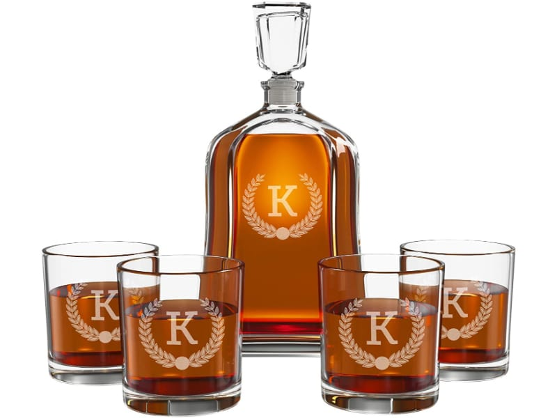 Froolu Personalized Whiskey Decanter Set