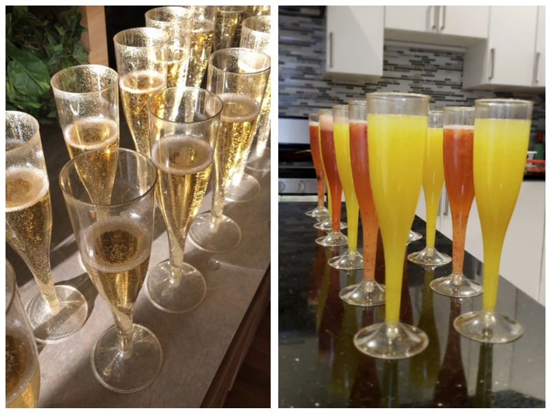Oojami Plastic Champagne Glass Customer Images