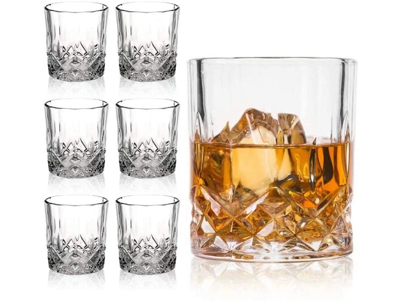 Farielyn-X Crystal Whiskey Glasses (Set of 6)