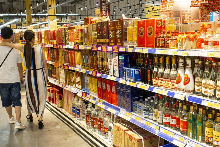 Stores selling Baijiu - Image by Caixing Global
