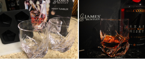 James Bentley VRIDE Scotch Glasses and Ice Tray