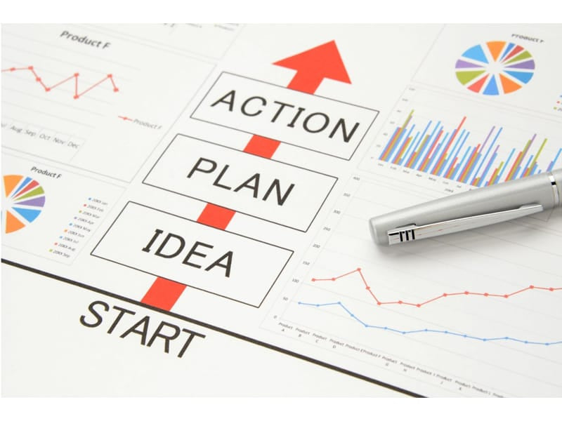 Business concepts, idea, plan, and action