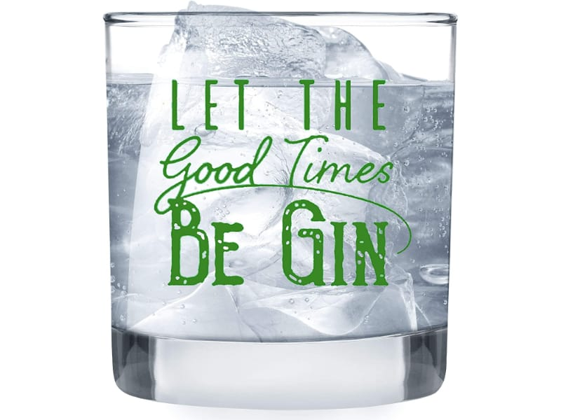 Humor Us Home Goods Lowball Gin Glass