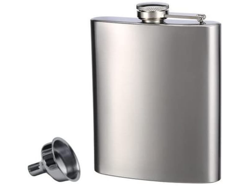 Top Shelf Flask and Funnel