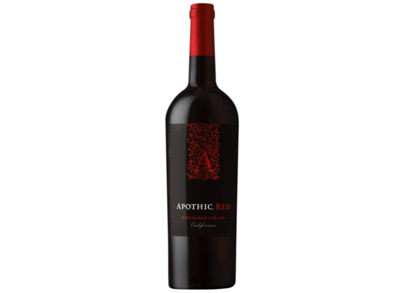 A bottle of Apothic Red Winemaker's Blend