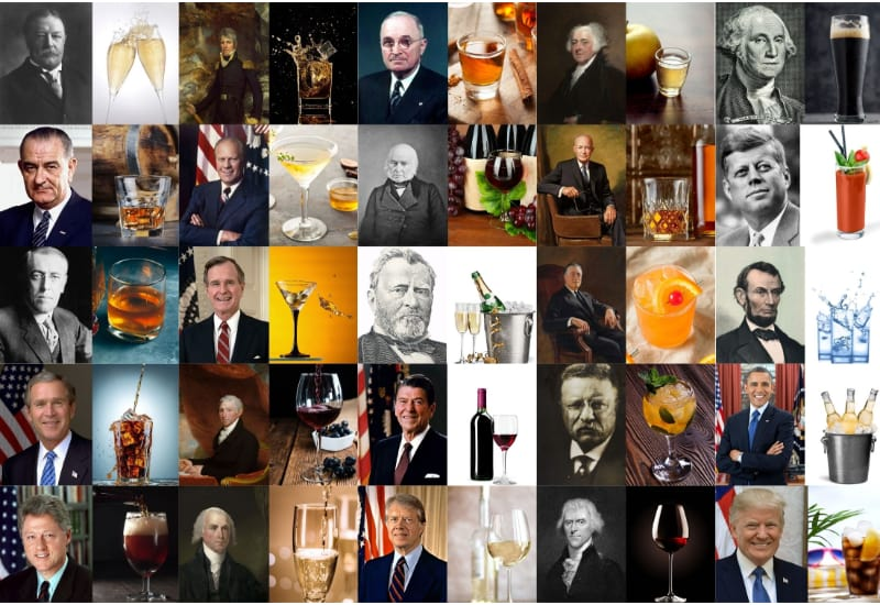 25 Most Popular US Presidents and their favorite drinks