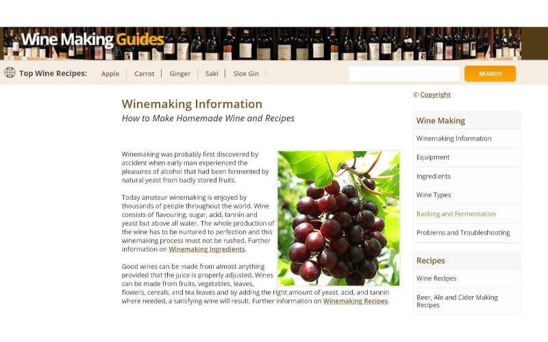 Wine Making Guides website