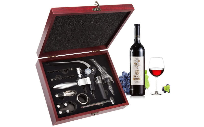 Smaier Wine Opener Set with Wooden Case