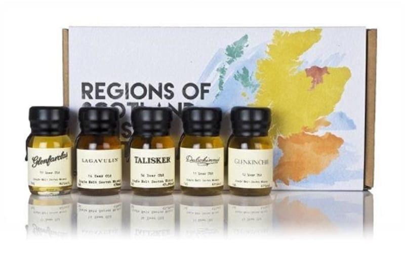 Regions of Scotland and Whisky Tasting Set