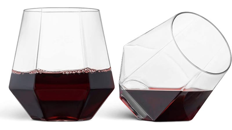 2 Munfix Munfix Stemless Disposable Plastic Wine Glass