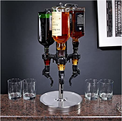 3-Bottle Revolving Liquor Dispenser - AdvancedMixology
