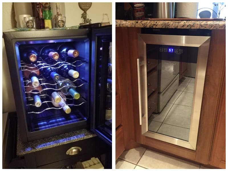 Nutrichef Dual-Zone Wine Cooler Customer Images