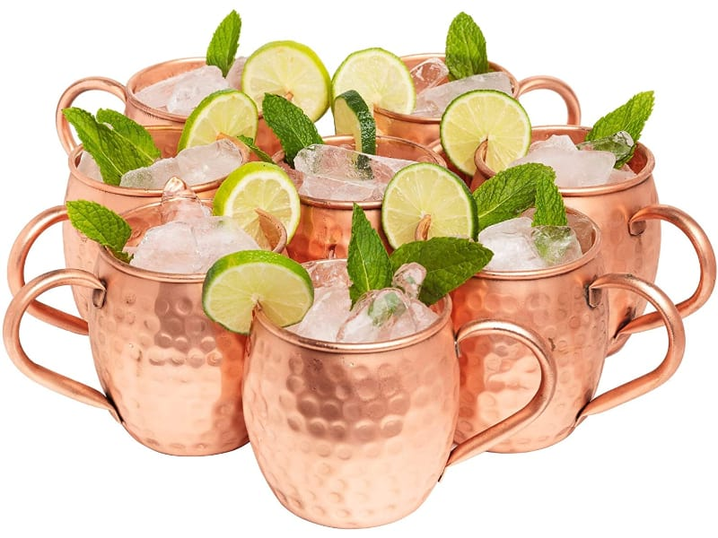Kitchen Science Moscow Mule Copper Mugs