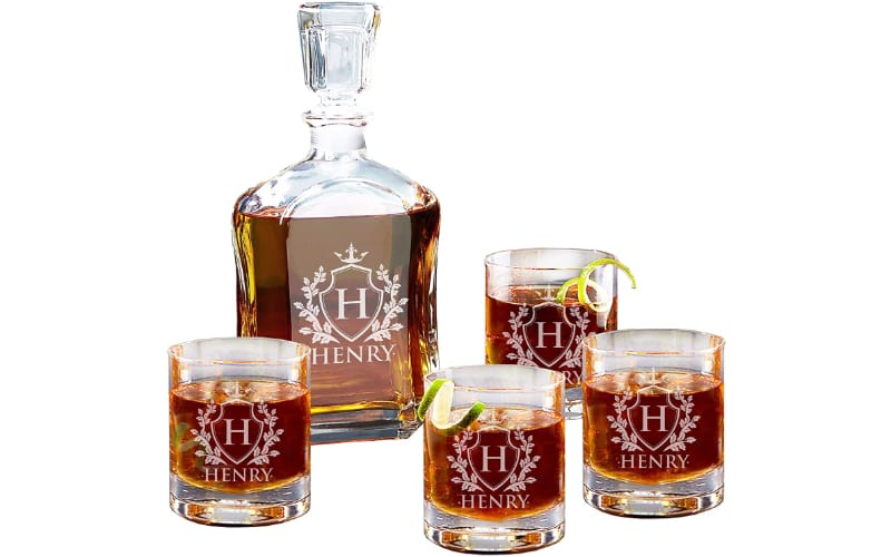 My Personal Memories Personalized Whiskey Decanter Set