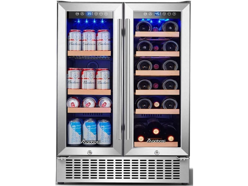 Aobosi 24 Inch Beverage and Wine Cooler