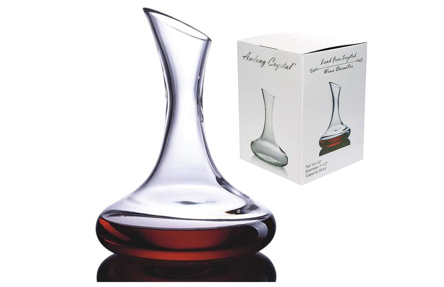 Amlong Crystal Lead-Free Crystal Wine Decanter