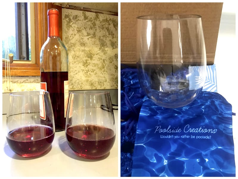 Poolside Stemless Reusable Plastic Wine Glass     Customer Images