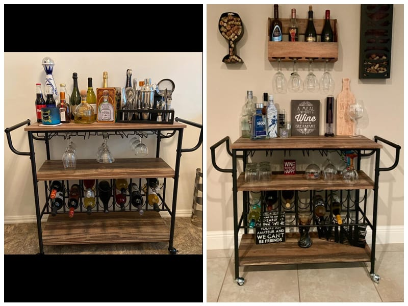 HOMYSHOPY Industrial Bar Cart review