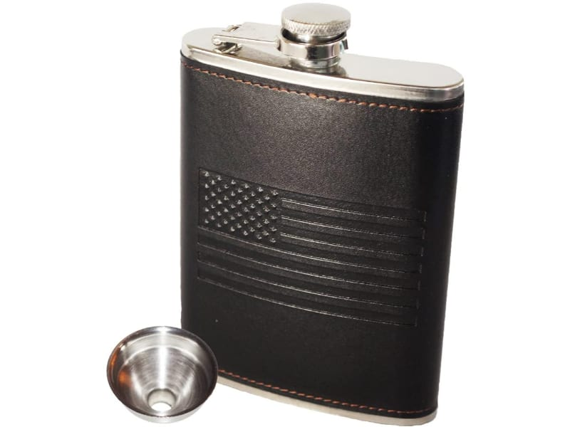 OUTZIE American Flag Flask