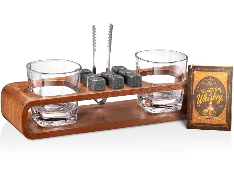 ROCKSLY Whiskey Stones Gift Set with Stand