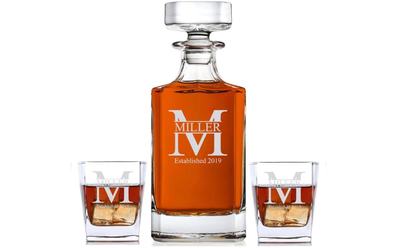 Sofia's Findings Personalized Whiskey Decanter & Glass Set