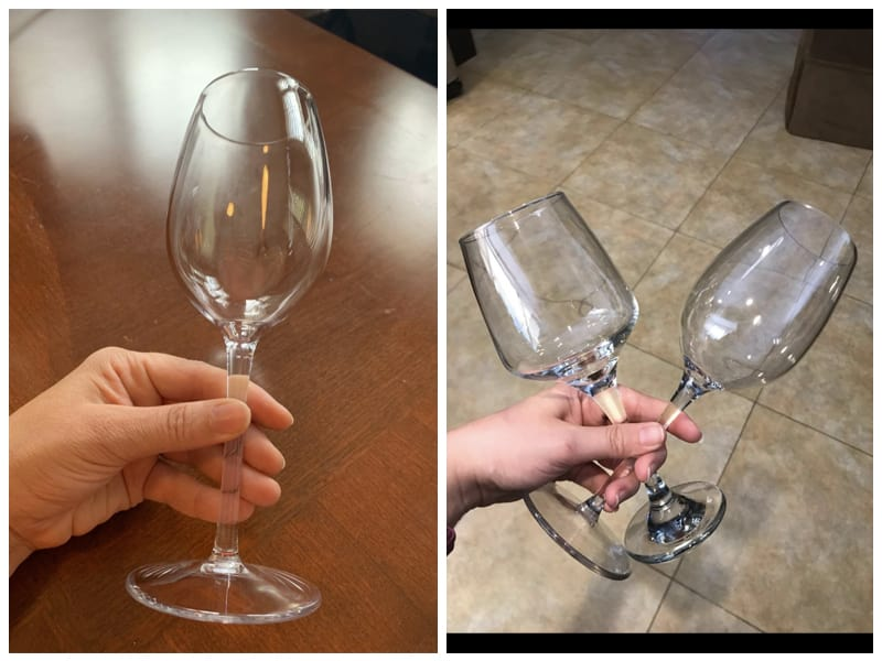 MICHLEY Red Goblet Reusable Plastic Wine Glass Customer Images