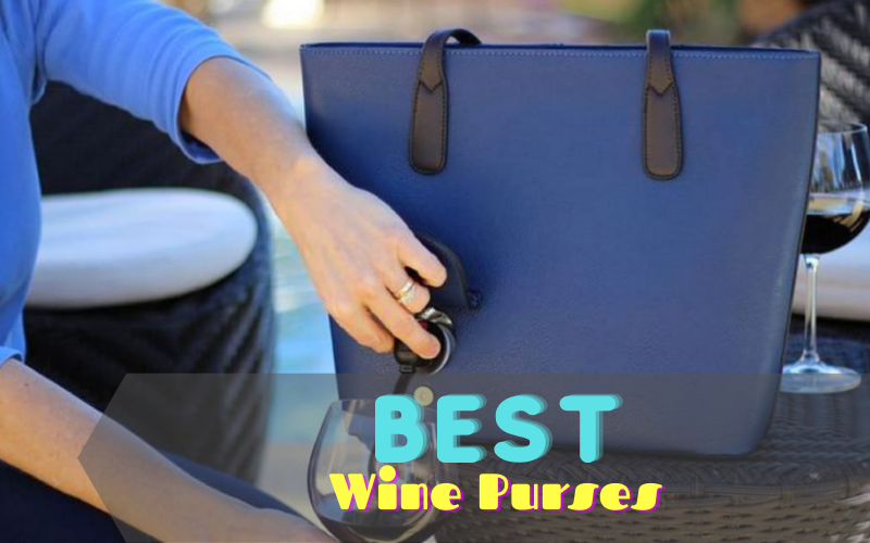 wine being poured from wine purse