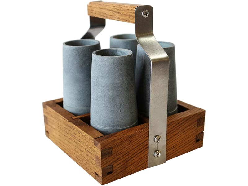 Sparq Home Vodka Shooter Set with Ash Caddy
