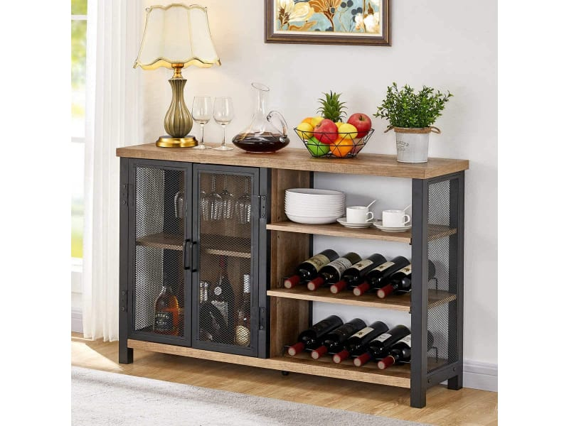 BON AUGURE Industrial Bar Cabinet