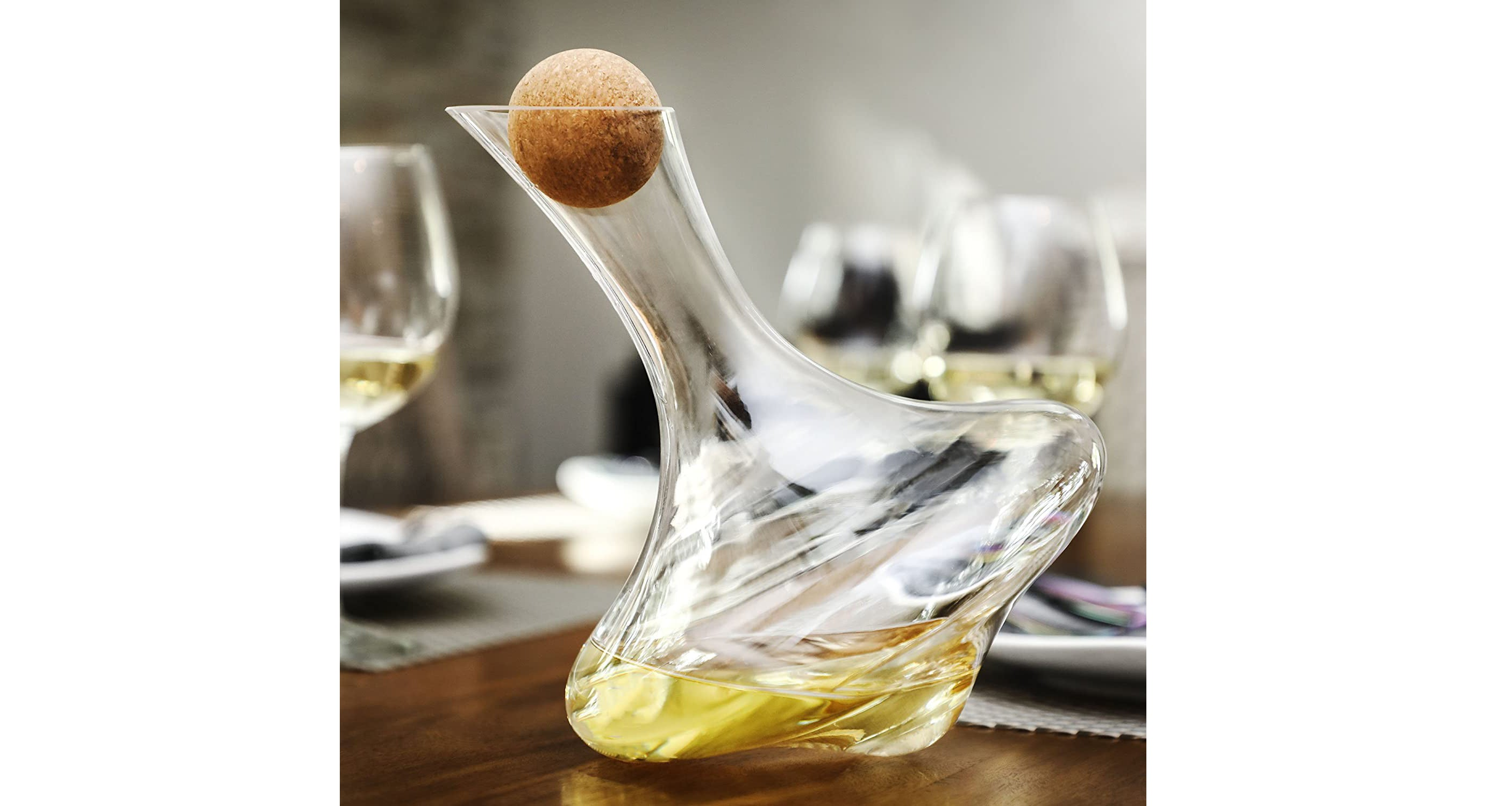 Culinex Hand Blown Glass Wine Decanter