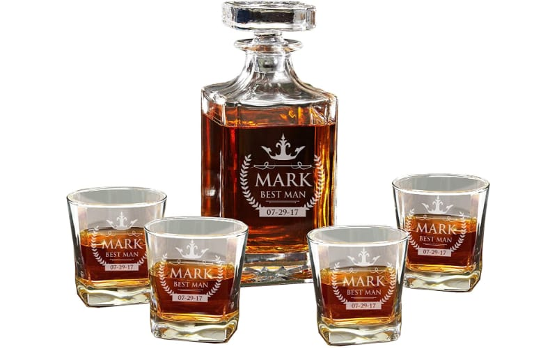 The Wedding Party Store Groomsmen Personalized Decanter Set
