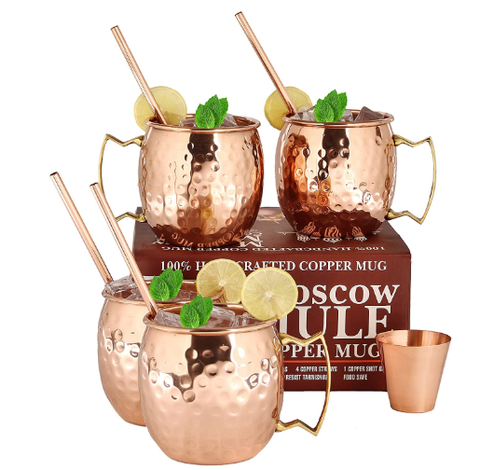 A29 Moscow Mule Solid Pure Copper Unlined Mug - AdvancedMixology