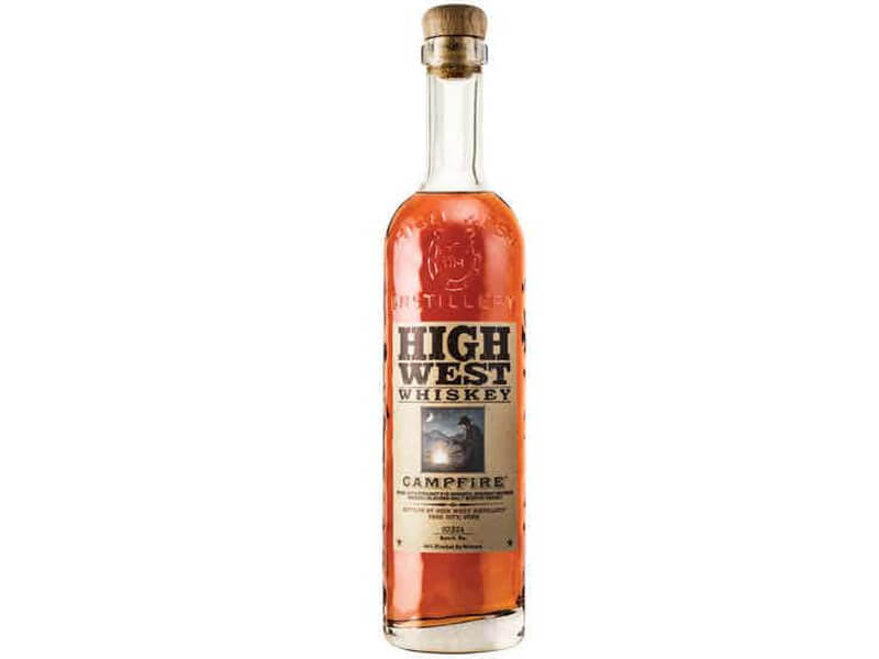 A bottle of High West Campfire Whiskey