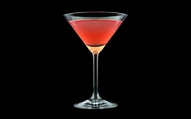 A glass of French Martini