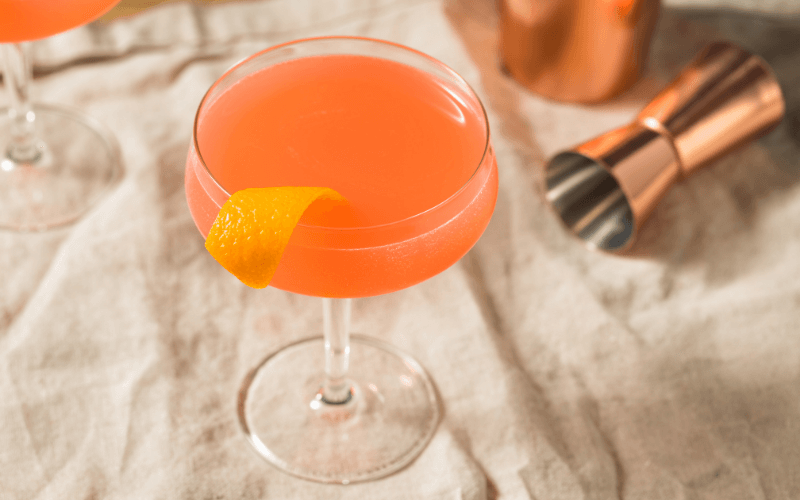 A glass of Monkey Gland cocktail