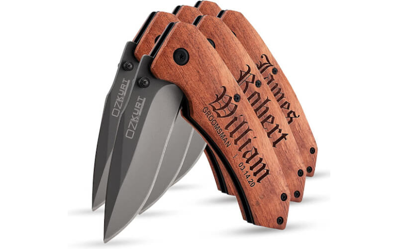 Amazing Items Personalized Pocket Knife for Groomsmen
