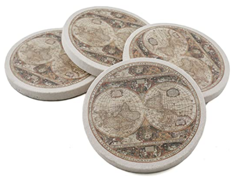 Antique Map Coasters - AdvancedMixology