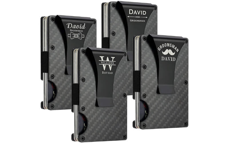 Awofer Personalized Wallet With Metal Money Clip