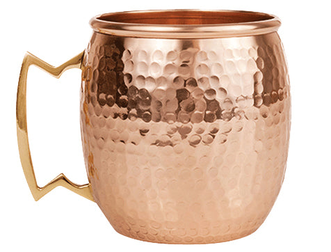 Barrel Style Moscow Mule Copper Mug with Brass Handle