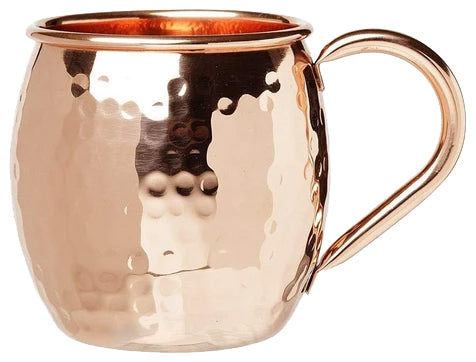 Barrel Style Moscow Mule Copper Mug with Copper Handle