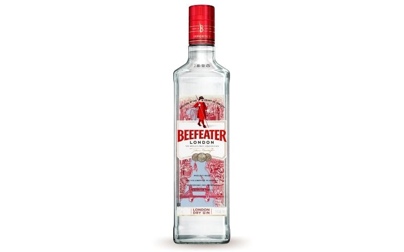 A bottle of Beefeater
