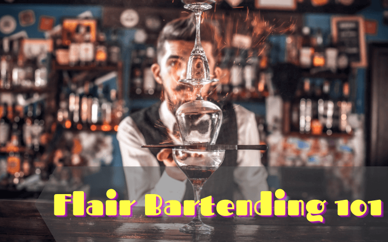 Professional Bartender Creates a Cocktail on the Bar